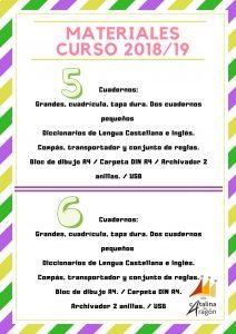 CURSOMATERIAL1819 2 212x300 - Materiales escolares 2018-2019.