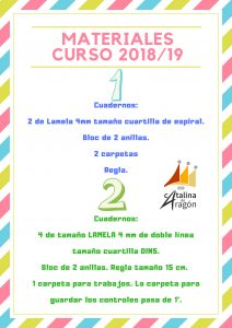 CURSOMATERIAL1819 212x300 - Materiales escolares 2018-2019.