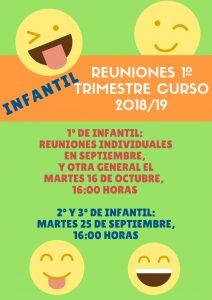 REUNIONES 1º TRIMESTRE CURSO 20182F19 212x300 - Reuniones de principio de curso 2018-2019.