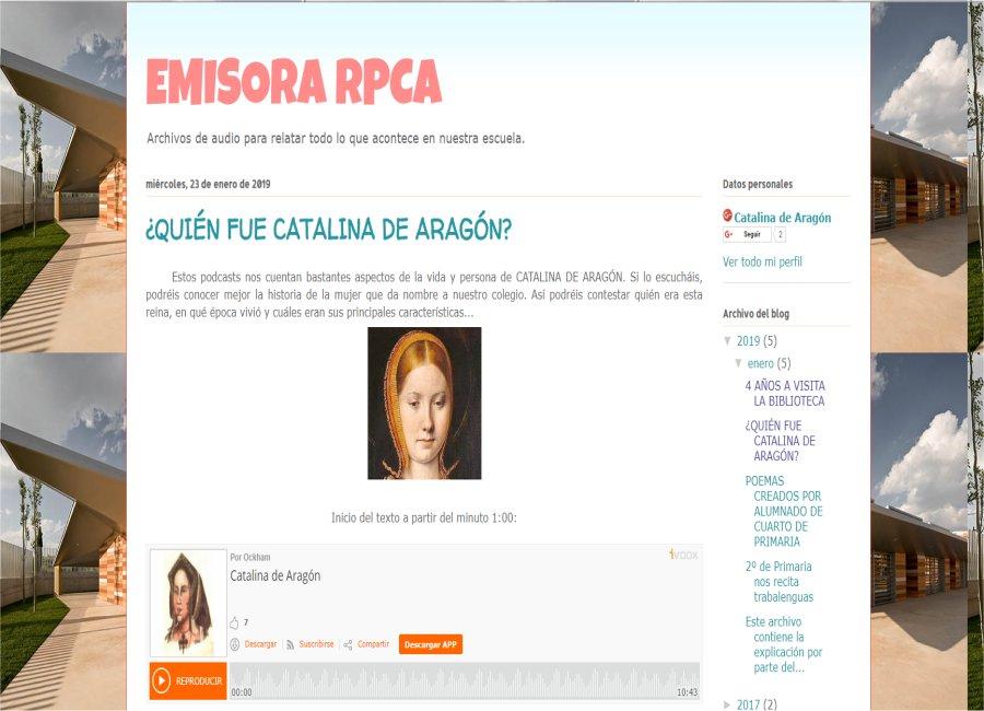 "onda catalina - Blog de Radio - Podcasts ""Emisora RPCA"""