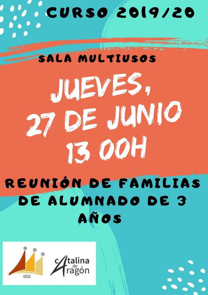 MATRICULACIÓN CURSO 2019 20 DE 2ºE.P. A 6ºE.P. 724x1024 - REUNIÓN 3 AÑOS