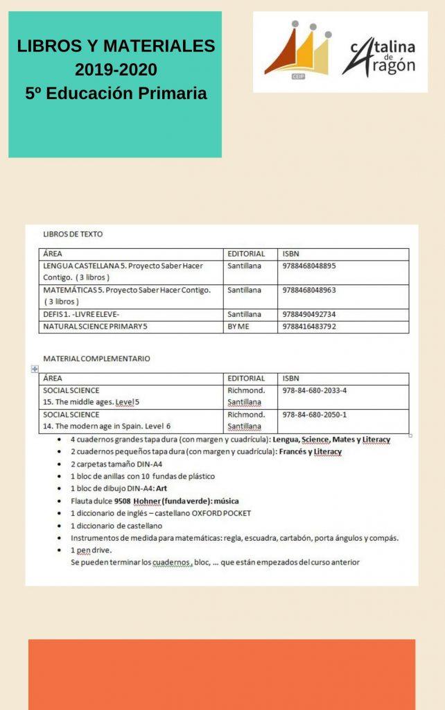 5º pri 642x1024 - CURSO 2019/20:LIBROS Y MATERIALES