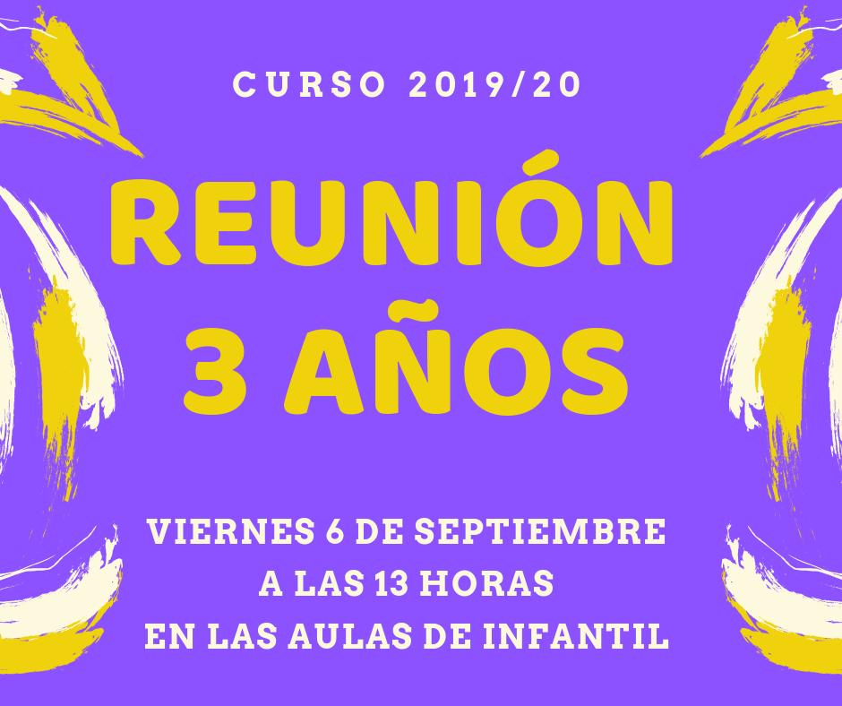 REUNION 3 AÑOS - ¡ATENCIÓN! REUNIONES