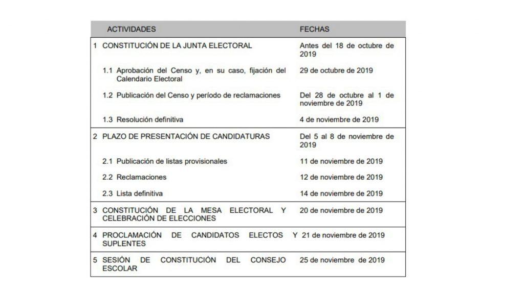 calendario1 page 0001 1024x576 - ELECCIONES A CONSEJO ESCOLAR 2019/20